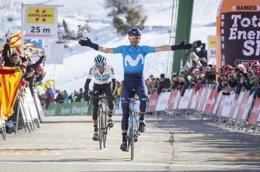 Alejandro Valverde (Movistar), ganador en La Molina en la Volta 2018