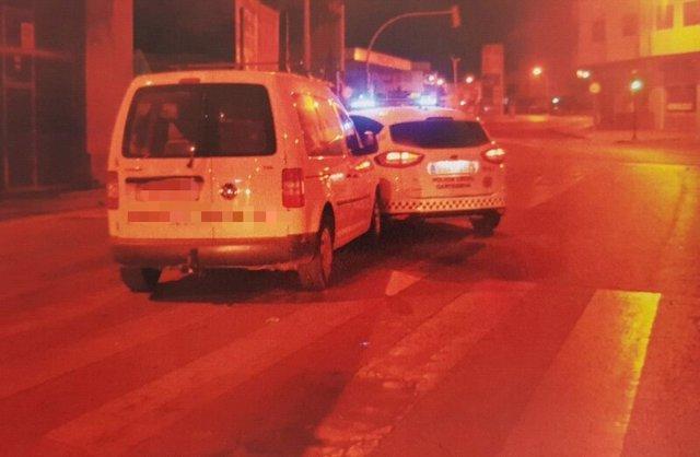 Imagen del vehículo interceptado por la Policía Local