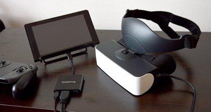 Desarrollan un visor de realidad virtual compatible con Switch que proyecta una pantalla de 120 pulgadas