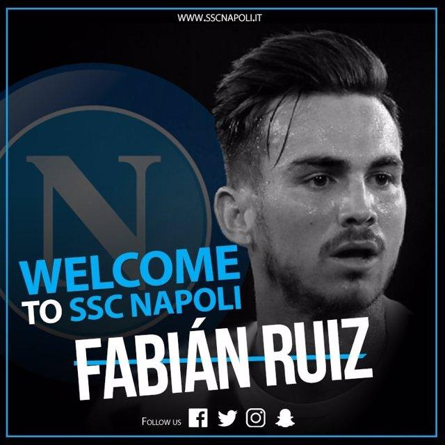 Fabián Ruiz llega al Nápoles