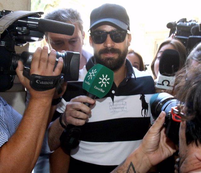 Antonio Manuel Guerrero, guardia civil de 'La Manada', llega a los juzgados