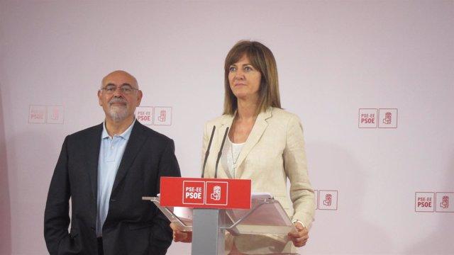 José Antonio Pastor e Idoia Mendia, PSE