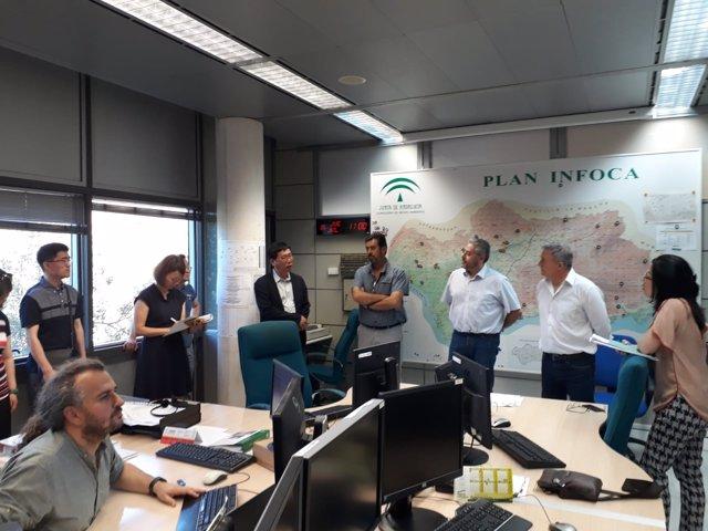 Una delegación de Corea del Sur conoce el Plan Infoca