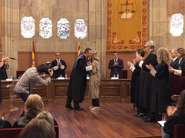 Homenaje del Colegio de Procuradores al exfiscal J.M.Romero de Tejada