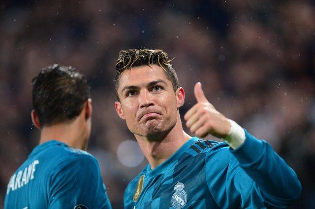 Cristiano Ronaldo celebra un gol ante la Juventus