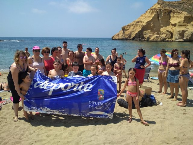 La playa de Los Cocedores, de San Juan de los Terreros, sede de la actividad.