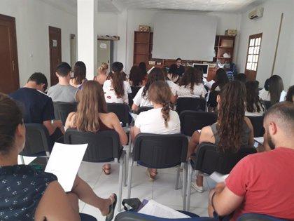 Jóvenes de Oria, Tabernas y Vélez-Blanco se forman como monitores de ocio con una acción de Diputación