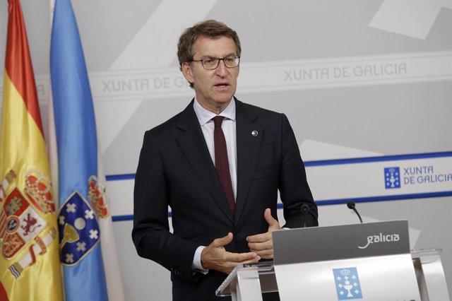 Rueda de prensa de Feijóo tras el Consello de la Xunta