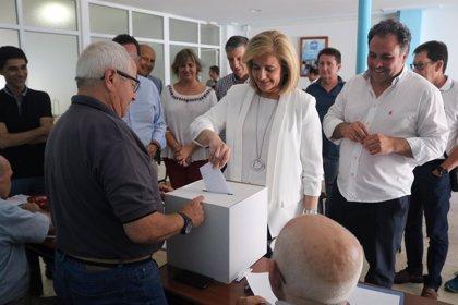 """Fátima Báñez destaca """"la responsabilidad"""" de votar no solo para elegir al líder del PP sino """"para volver"""" al Gobierno"""