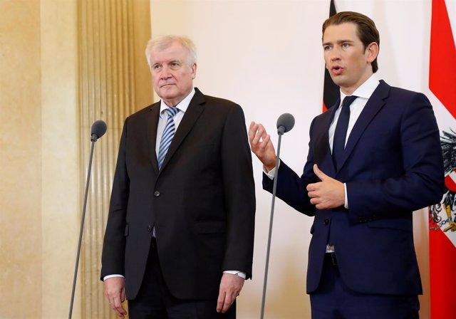 Sebastian Kurz y Horst Seehofer