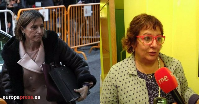 La expresidenta del Parlament Carmen Forcadell y la exconsejera Dolors Bassa