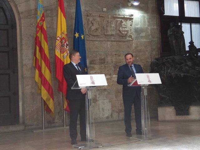 Ximo Puig y José Luis Ábalos