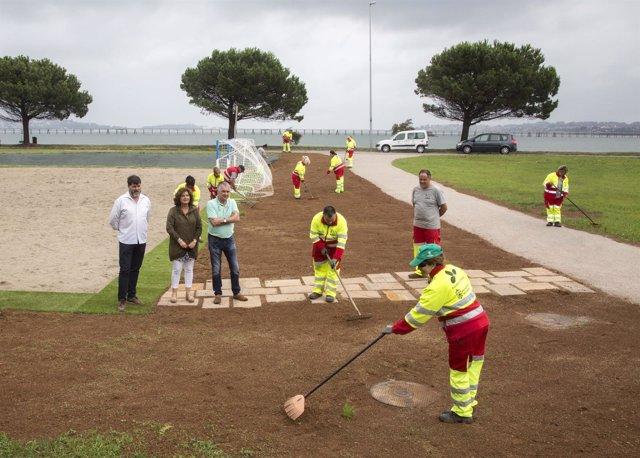 Mejoras en la zona de deportes de playa del Puerto Deportivo