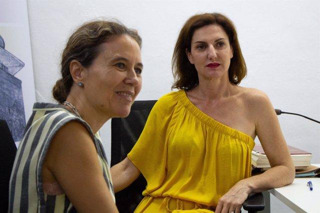 Menchu Sarrión y Cristina Ybarra en los cursos de verano de la UPO