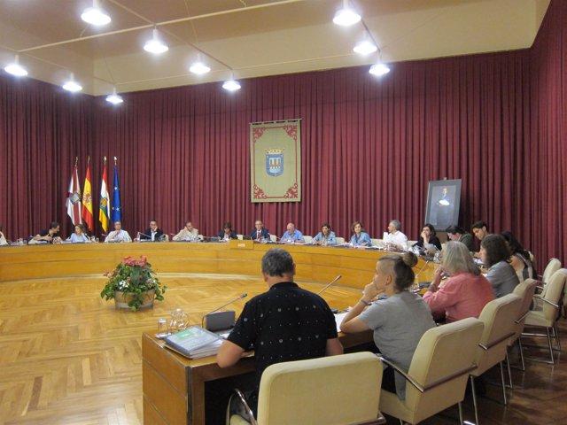 Pleno del Ayuntamiento de Logroño, mes de julio