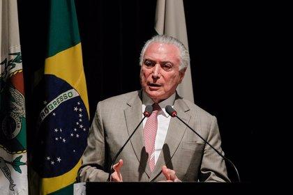 Temer confirma que este año Brasil crecerá económicamente menos de lo previsto