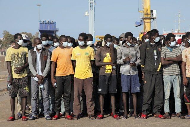 Migrantes llegados a Italia