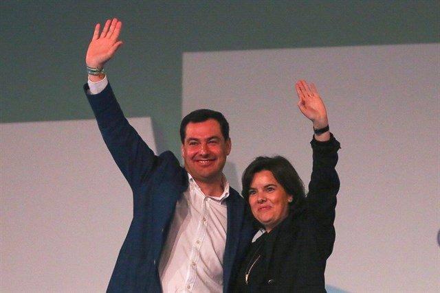 Juanma Moreno y Soraya Sáenz de Santamaría