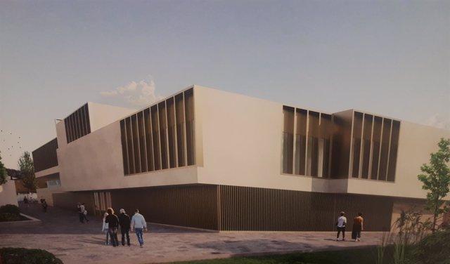 Recreación del proyecto de la nueva sede judicial de Lucena