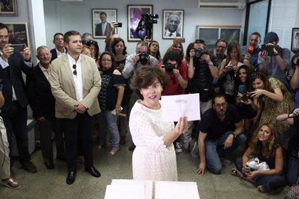 Santamaría se perfila como ganadora con unos 1.600 votos de diferencia sobre Pablo Casado