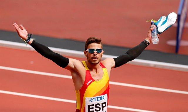 El atleta español Óscar Husillos