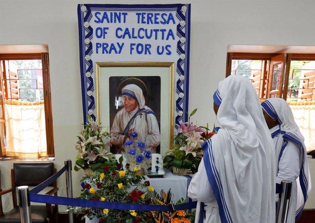 Monjas de las Misioneras de la Caridad, fundada por la madre Teresa de Calcuta