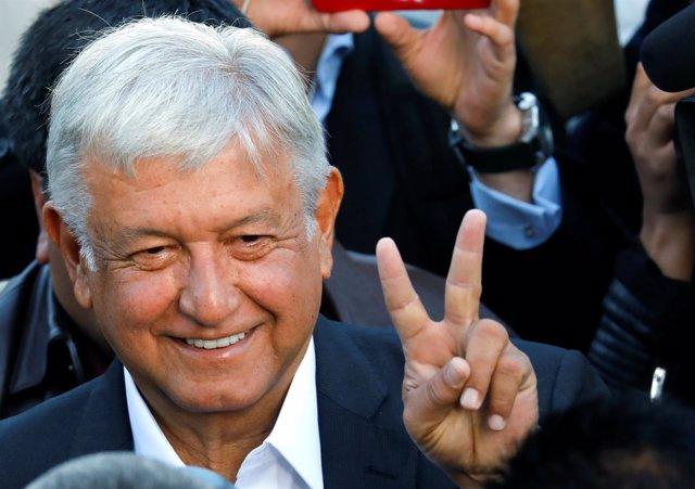 El candiato presidencial mexicano Andrés Manuel López Obrador