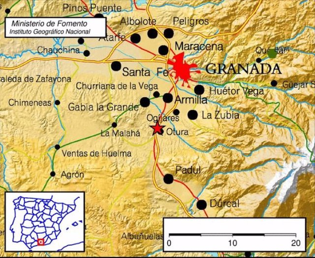 Terremoto con epicentro en Otura (Granada)