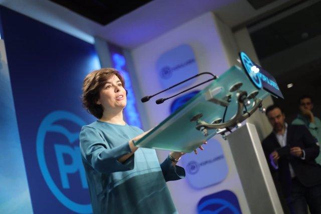 Soraya Sáenz de Santamaría, ganadora de las primarias del PP