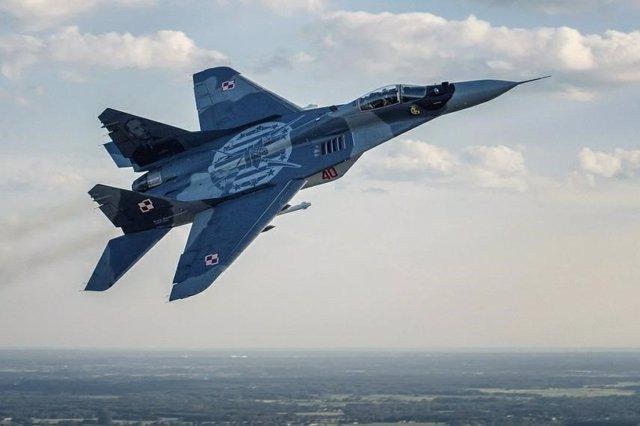 Un caza MiG29 de la Fuerza Aérea polaca