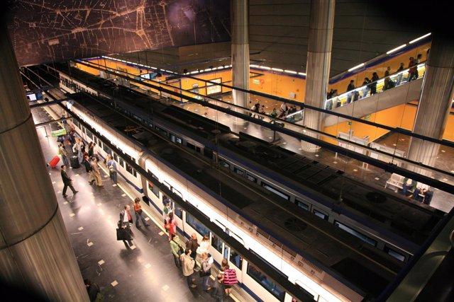 Estación de Metro en el aeropuerto de Barajas
