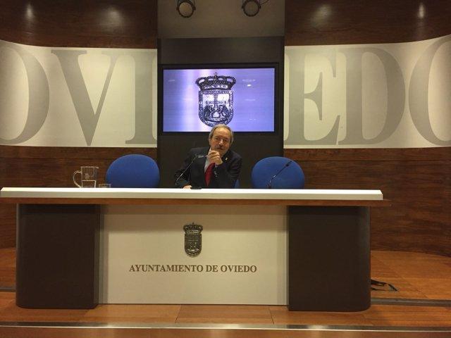 El alcalde de Oviedo, Wenceslao Lopez