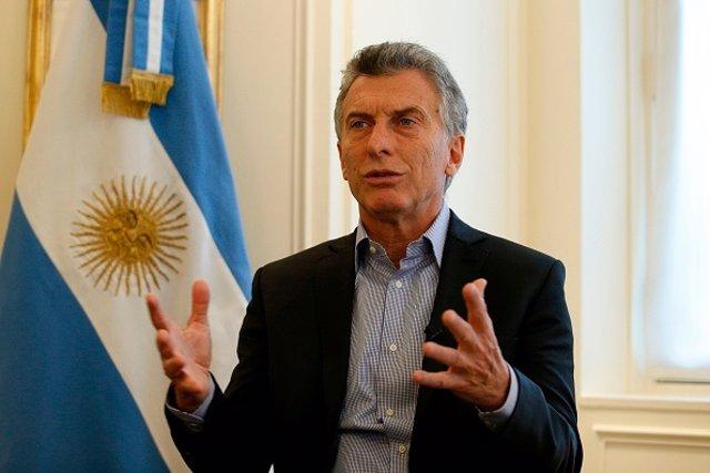 Mauricio Macri el  27 de enero de 2018
