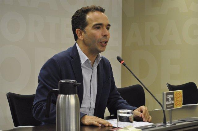 El diputado del PAR, Jesús Guerrero, hoy en las Cortes de Aragón
