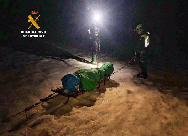 Rescate montañera Picos
