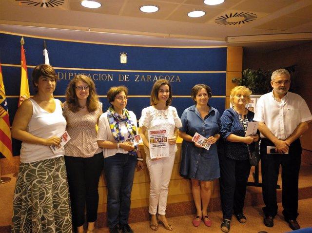 Presentación de 'Itinerarios' en la sede de la DPZ.