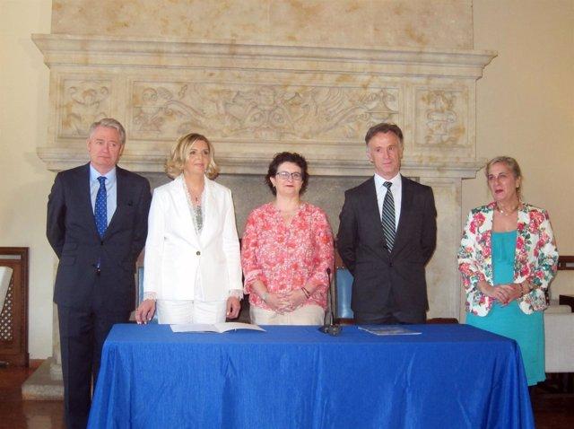Firma del acuerdo en Salamanca entre Iberia y Adventia 6/7/2018