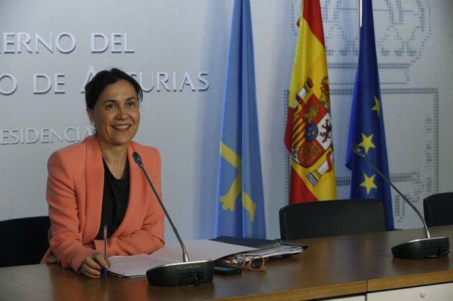Dolores Carcedo en rueda de prensa.