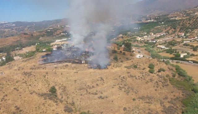 Incendio Paraje Entrerríos Mijas