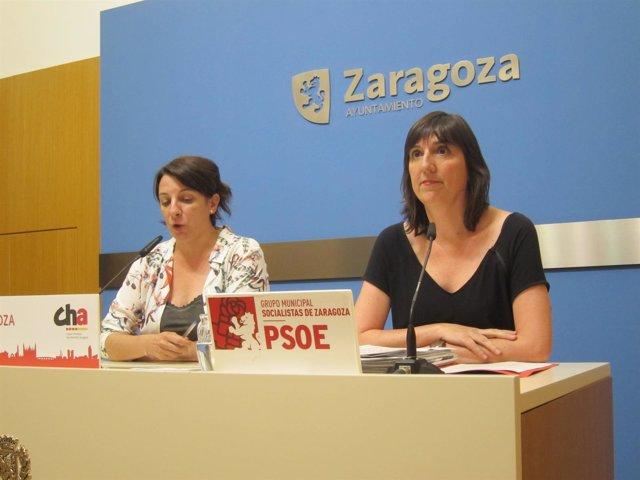 Leticia Crespo, De CHA, Y Lola Ranera, Del PSOE