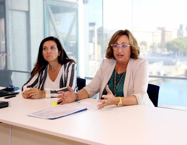 Ana Arévalo y Rosa Puig, durante la presentación de este viernes