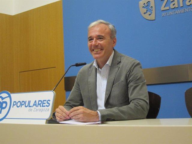 El portavoz del grupo del PP en el Ayuntamiento de Zaragoza, Jorge Azcón