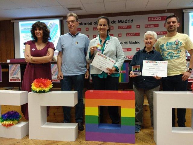 Entrega del reconocimiento 'Orgullo de Ser' de CCOO de Madrid