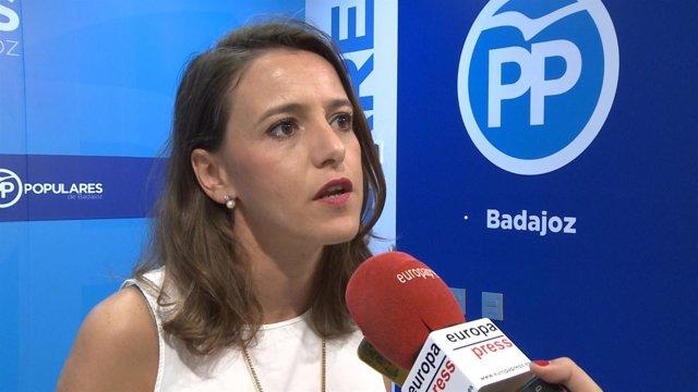 Portavoz del PP de Extremadura, Gema Cortés