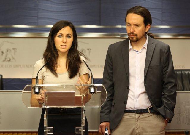 Pablo Iglesias e Ione Belarra presentan una Proposición de Ley sobre pobreza