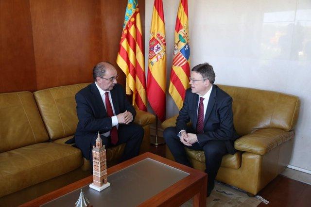 Lambán y Puig se reúnen en Teruel