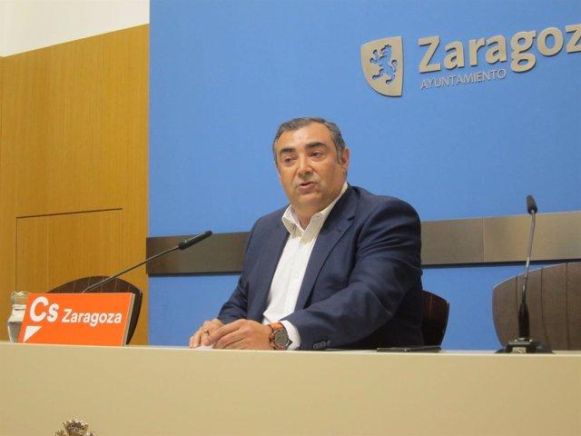 Concejal de Ciudadanos en el Ayuntamiento de Zaragoza, Alberto Casañal
