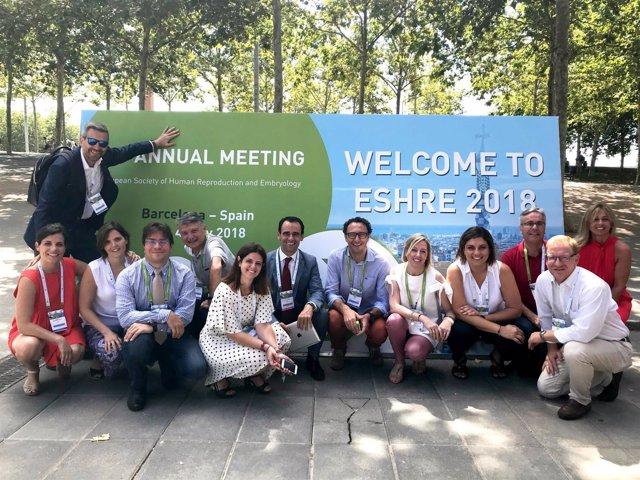 Representantes del Instituto Bernabeu en el ESHRE 2018