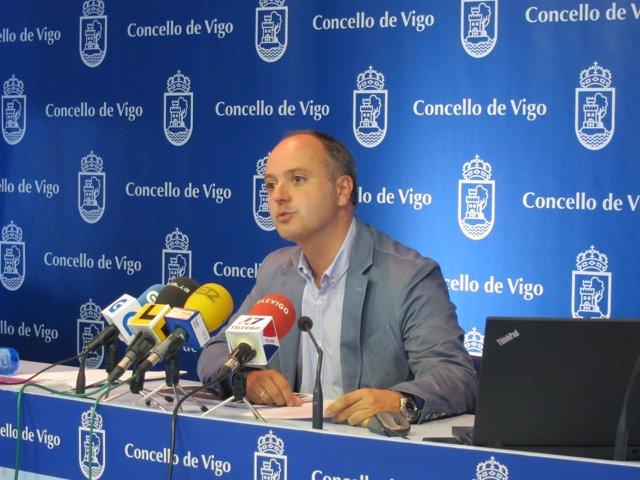 El edil de Fomento de Vigo, David Regades