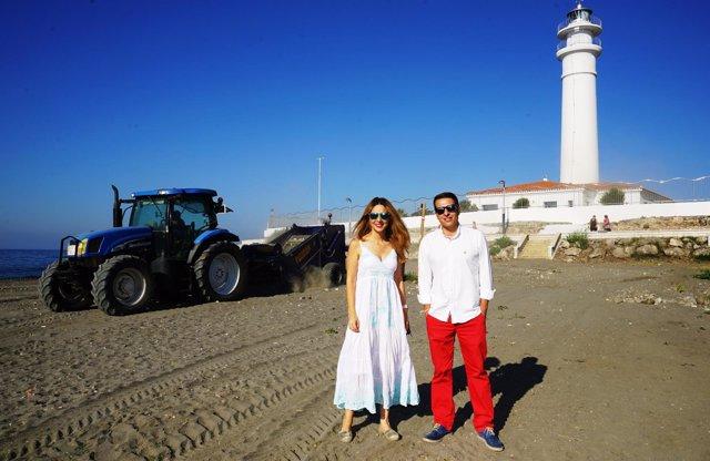 Alcalde en la playa Canina Torrox